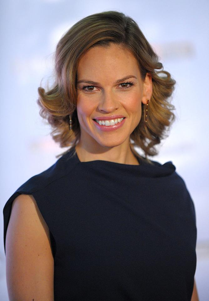 """<a href=""""http://movies.yahoo.com/movie/contributor/1800020739"""">Hilary Swank</a> at the Hollywood Reporter's Annual Women in Entertainment breakfast in Beverly Hills, CA - 12/04/2009"""