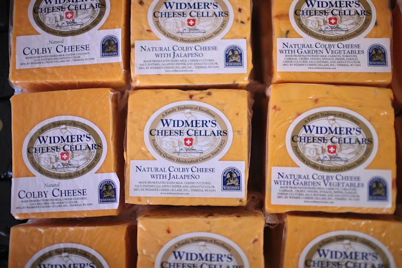 Widmer's Cheese Cellars is among the 26 Wisconsin cheesemakers and dairy farmers who donated dairy products to Hurricane Harvey victims.  (Scott Olson/Getty Images)