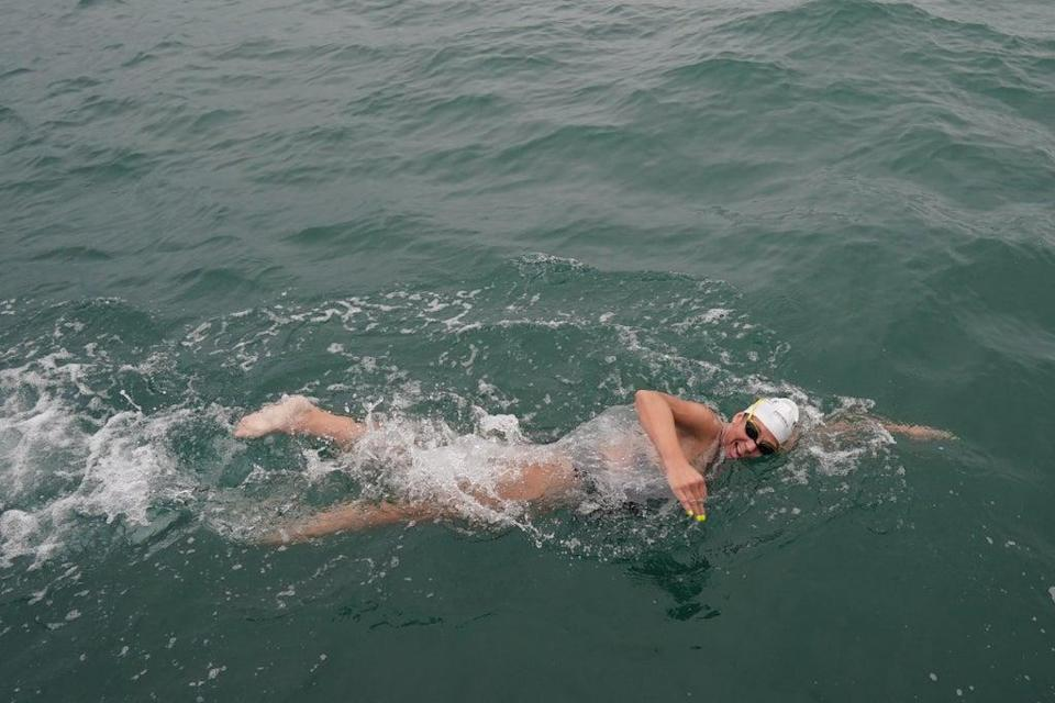 Chloe McCardel is making her 44th attempt at swimming across the English Channel (Gareth Fuller/PA) (PA Wire)