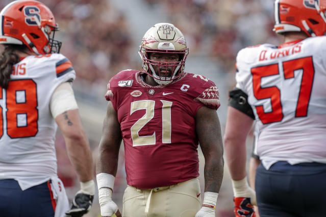 Florida State defensive tackle Marvin Wilson is expected to miss the rest of the season. (Photo by Don Juan Moore/Getty Images)