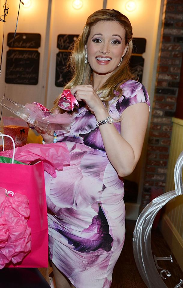 LAS VEGAS, NV - FEBRUARY 02:  (Exclusive Coverage) Holly Madison  during her Las Vegas baby shower at Meatball Spot on February 2, 2013 in Las Vegas, Nevada.  (Photo by Denise Truscello/WireImage)