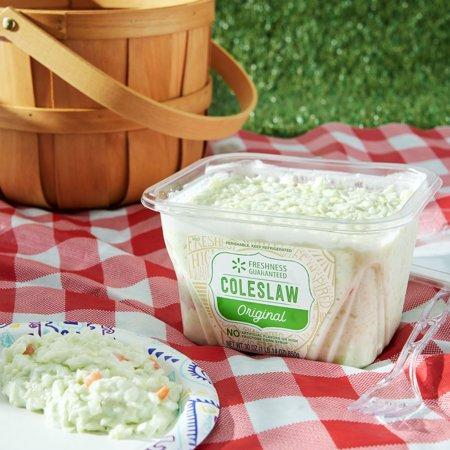 Got guests who turn a cole shoulder to potato salad? Who just elbow it aside? Put some slaw and macaroni salad on the menu. (Credit: Walmart)