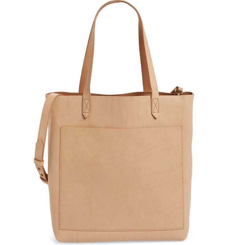 Medium Leather Transport Tote in Linen. Image via Nordstrom.
