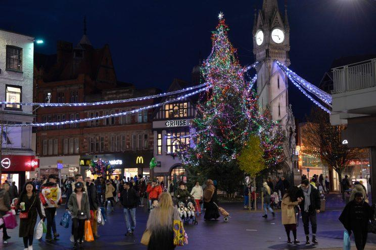A city's centre Christmas tree has been branded a