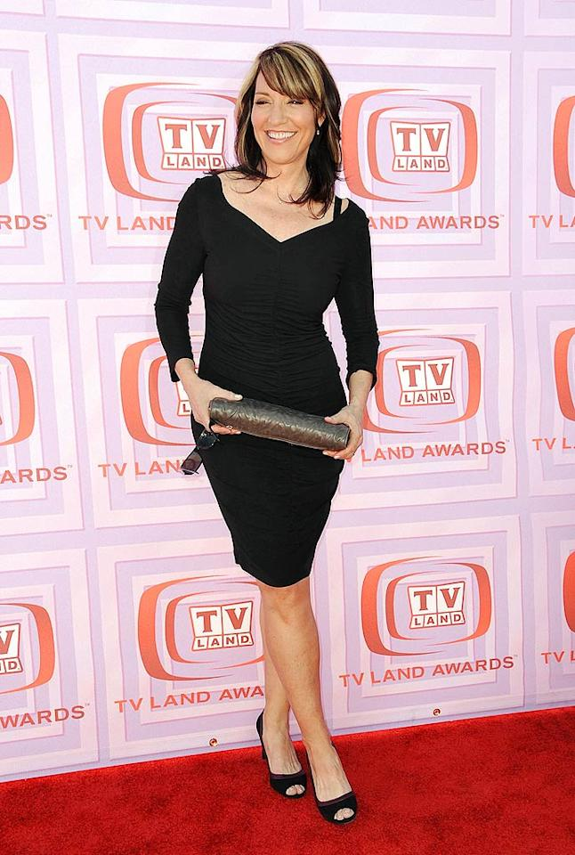 """""""Married ... With Children"""" mom Katey Sagal looked flawless for 55 in a hip-hugging LBD, cute heels, and bright smile at the 7th Annual TV Land Awards. Jordan Strauss/<a href=""""http://www.wireimage.com"""" target=""""new"""">WireImage.com</a> - April 19, 2009"""