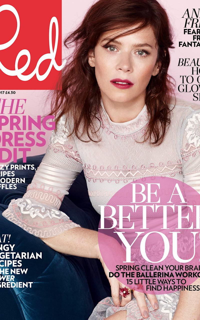 Anna Friel is the cover star of the May issue of Red - Credit: Paul Empson/Red magazine