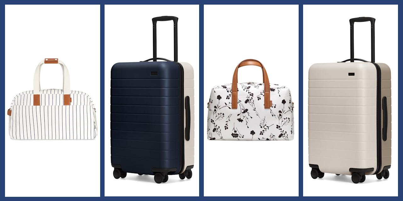 """<p>Away has always had their stylish luggage game on lock, and <a href=""""https://www.awaytravel.com"""" target=""""_blank"""">their latest collection</a> is just more proof that these fan-favorite suitcases and bags deserve a place on your summer vacation packing list. Inspired by classic New England style, the Great Point collection includes two styles of dual-toned suitcases (available in all four of the brand's signature sizes) as well as carry-alls and weekender bags in a pretty collection of colors and patterns including an elegant cognac leather, nautical blue and white stripes, and dainty black and white florals. </p><p>Check out highlights from the collection below, then <a href=""""https://www.awaytravel.com"""" target=""""_blank"""">head over to Away </a>to get your hands on all the new looks. </p>"""