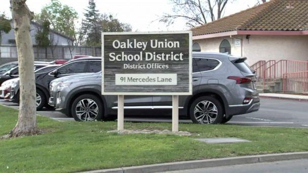 PHOTO: The Oakley Union Elementary School District in Contra Costa County, Calif., announced the resignation of the entire board on Feb. 19, 2021 after they made disparaging comments during a video meeting. (KGO)