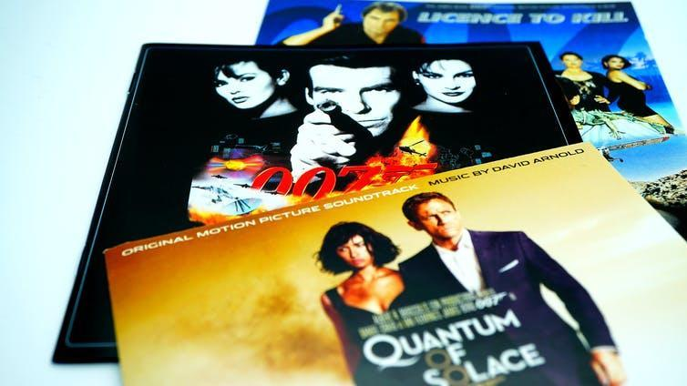James Bond soundtracks starring the last three actors to play the character: Timothy Dalton, Pierce Brosnan, Daniel Craig
