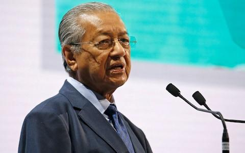 Prime Minister Mahathir Mohamad has warned of stern action against those responsible for pollution - Credit: Lai Seng Sin/Reuters