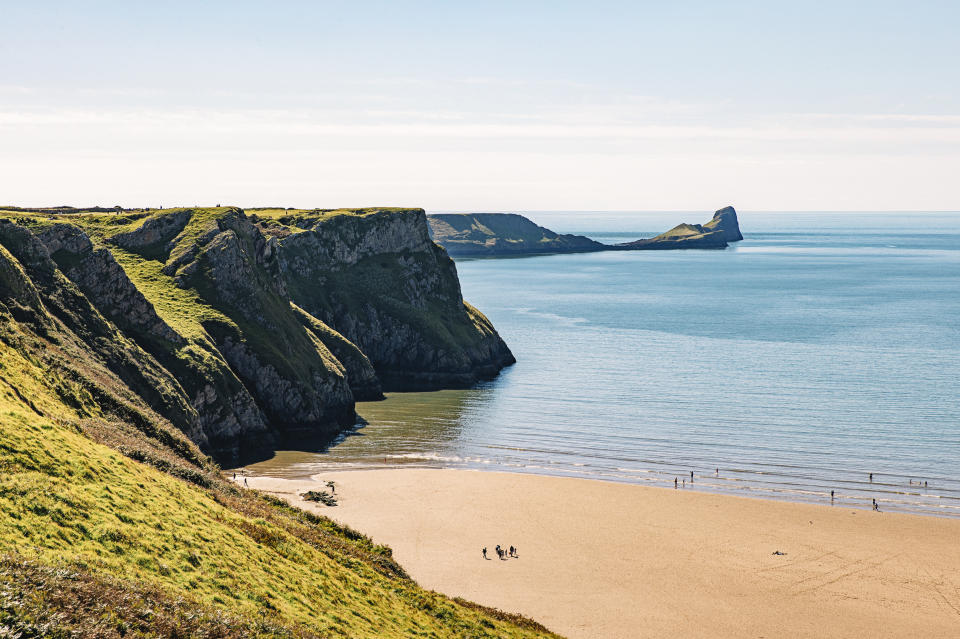 Walks don't get much better than on this Welsh beach (Getty Images)