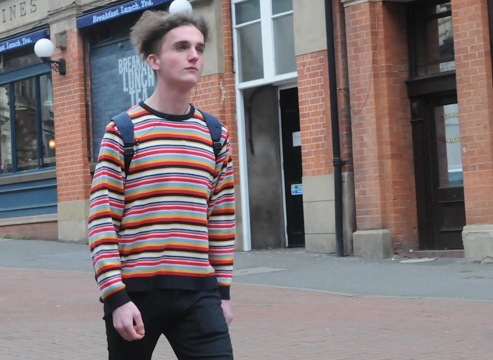 Connor Scothern arriving at Birmingham Crown Court. (PA)