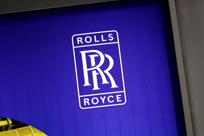 The logo of Rolls-Royce is pictured at the World Nuclear Exhibition (WNE), the trade fair event for the global nuclear community in Villepinte near Paris