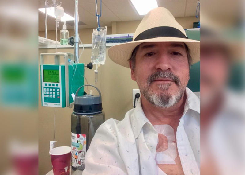 Colleagues donated sick leave to Florida teacher Robert Goodman battling cancer as he recovers from chemo.