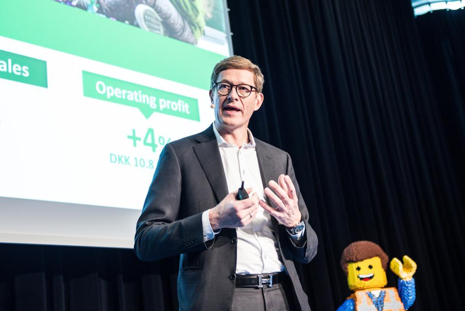 Niels B. Christiansen joined the LEGO group in 2017. Photo: Getty Images
