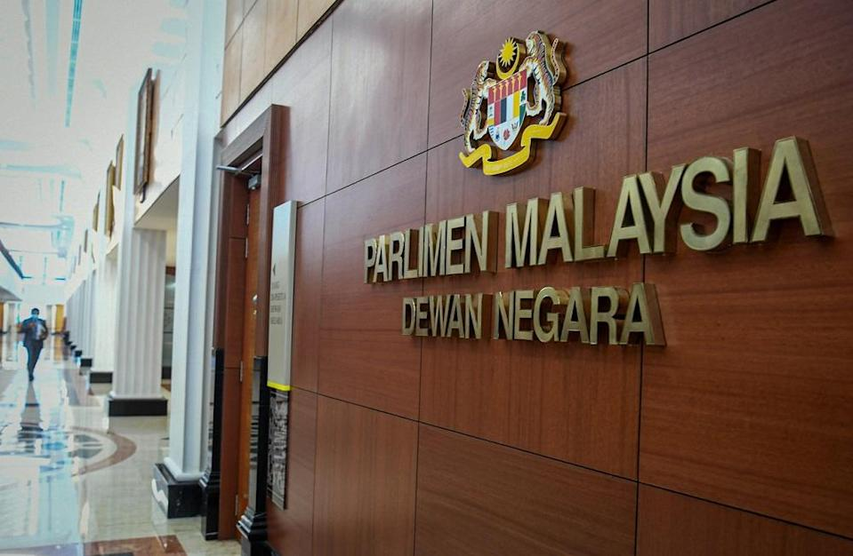 The fire alarm sounded about 40 minutes into the day's sitting and forced the proceedings for Question Time to be halted. — Bernama pic
