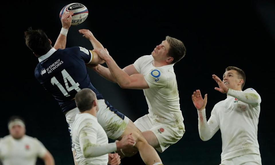 Owen Farrell, pictured during the Six Nations defeat to Scotland earlier this month, has faced criticism throughout his career.
