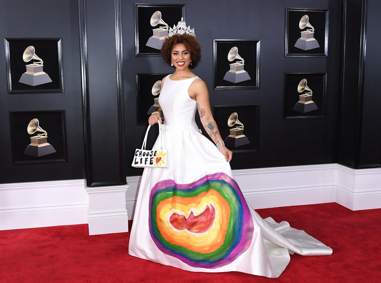 Joy Villa arrives for the 60th Grammy Awards.  (Photo: ANGELA WEISS via Getty Images)