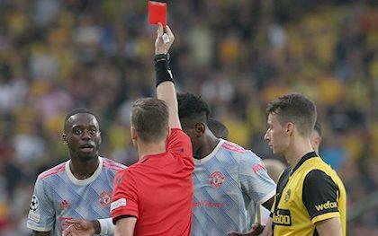 AaronWan-Bissaka is sent off - GETTY IMAGES