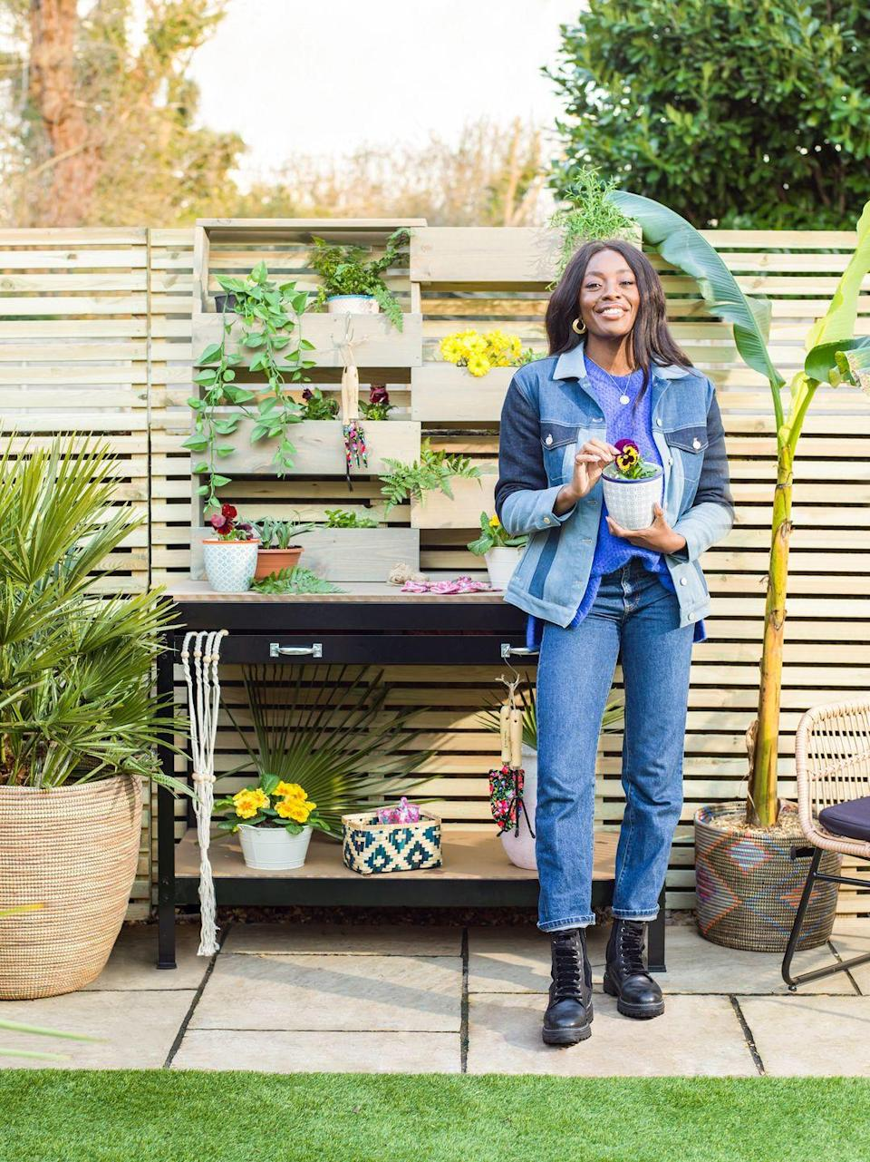 <p>'I added the potting station mainly for my Dad as he is a keen gardener and will be able to come round and grow plants & herbs with me,' she says. 'It's one thing creating a space for yourself but when you get to share it with others it's even better.'</p>