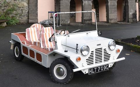 1965 Austin Mini Moke which was used in filming of cult TV series 'The Prisoner' and which now has been restored - Credit: Jay Williams