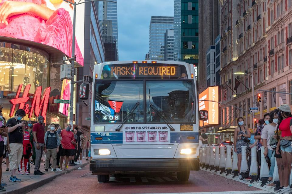 New York City Bus Coronavirus