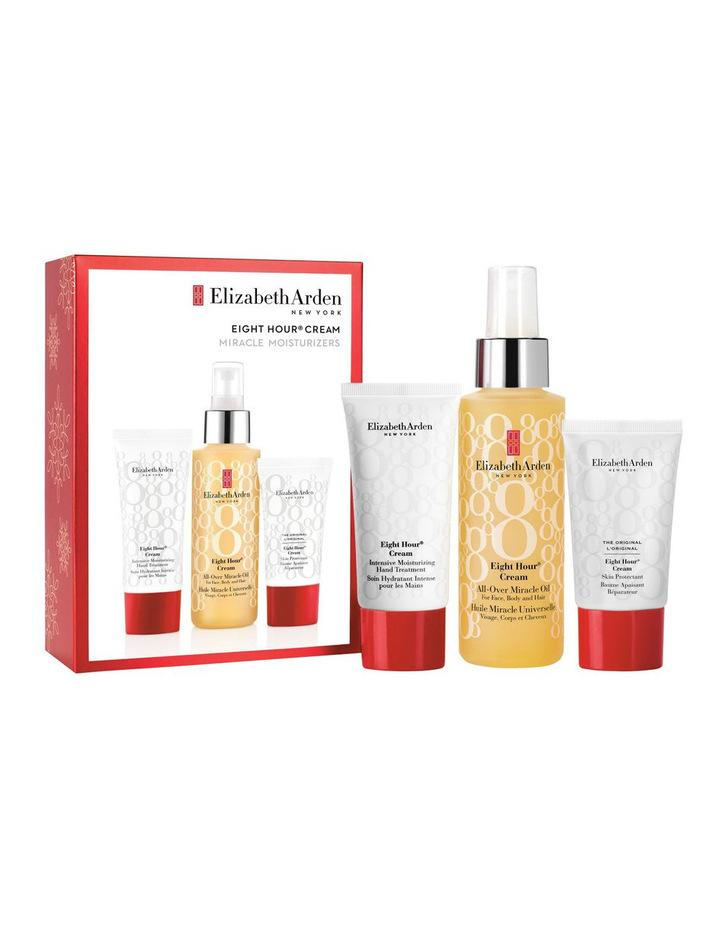 The Elizabeth Arden Eight Hour Cream All Over Miracle Oil 3Pce Set is available at Myer. Photo: Elizabeth Arden