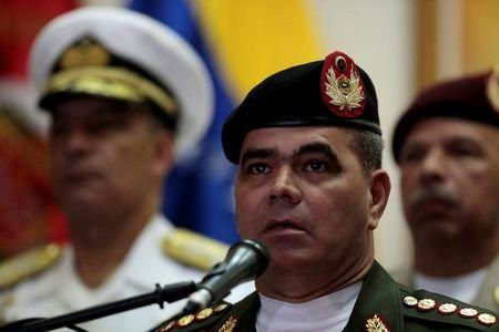 Venezuela's Defense Minister Padrino speaks during a news conference in Caracas