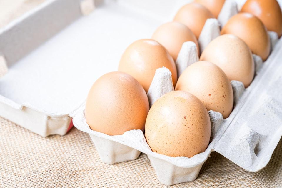 """<p>The U.S. Dietary Guidelines Advisory Committee <a href=""""https://www.eggnutritioncenter.org/articles/u-s-dietary-guidelines-advisory-committee-recommends-eggs-as-a-first-food-for-babies-and-toddlers/"""" class=""""link rapid-noclick-resp"""" rel=""""nofollow noopener"""" target=""""_blank"""" data-ylk=""""slk:recommends eggs as a first food for babies and toddlers"""">recommends eggs as a first food for babies and toddlers</a> as eggs are a rich source of choline and because early and sustained exposure to eggs may help reduce the risk of developing an egg allergy. But the benefits of eggs continue well beyond the first two years of life. Eggs are a nutritional powerhouse that contribute to health and well-being at every age and life stage.</p> <p>Egg yolks are one of the richest sources of dietary <a href=""""https://www.eggnutritioncenter.org/articles/choline-throughout-the-life-span/"""" class=""""link rapid-noclick-resp"""" rel=""""nofollow noopener"""" target=""""_blank"""" data-ylk=""""slk:choline"""">choline</a>, a nutrient that helps brain cells <a href=""""https://www.ncbi.nlm.nih.gov/books/NBK114308/#ch12.s53"""" class=""""link rapid-noclick-resp"""" rel=""""nofollow noopener"""" target=""""_blank"""" data-ylk=""""slk:produce acetylcholine"""">produce acetylcholine</a>, a neurotransmitter that plays a key role in cognition. Plus, eggs have the carotenoids lutein and zeaxanthin, which support eye health and may <a href=""""https://www.aoa.org/patients-and-public/caring-for-your-vision/diet-and-nutrition/lutein"""" class=""""link rapid-noclick-resp"""" rel=""""nofollow noopener"""" target=""""_blank"""" data-ylk=""""slk:help protect the eyes from harmful blue light"""">help protect the eyes from harmful blue light</a> from computers and phones. New research shows lutein may also play an important role in <a href=""""https://academic.oup.com/cdn/article/3/7/nzz066/5511268"""" class=""""link rapid-noclick-resp"""" rel=""""nofollow noopener"""" target=""""_blank"""" data-ylk=""""slk:brain health"""">brain health</a>, too. </p> <p>Eggs are easy to prepare and easy to love at any age, and at any meal. Enj"""