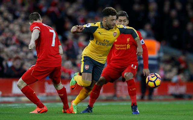 <span>Alex Oxlade-Chamberlain has reportedly grown frustrated at Arsenal</span> <span>Credit: Reuters </span>