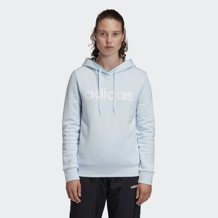 Essentials Linear Pullover Hoodie. Image via Adidas.