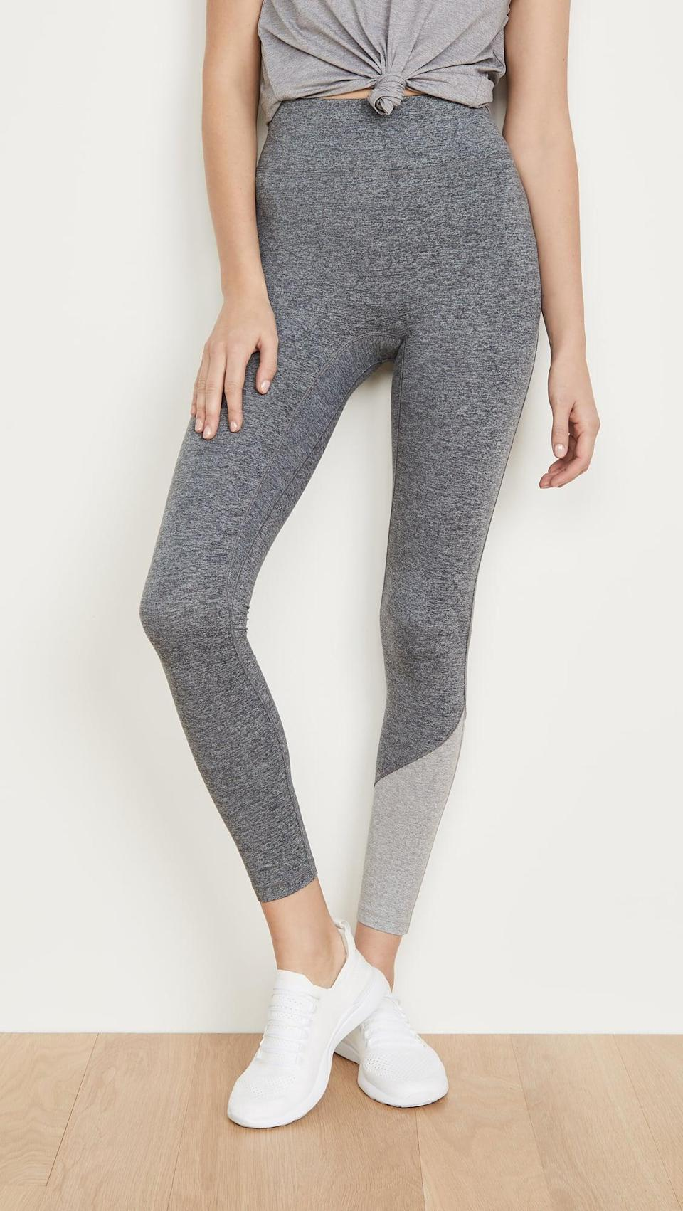 <p>Low-impact workouts call for these cozy <span>We Over Me Inversion Leggings</span> ($105).</p>