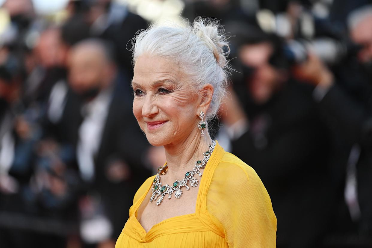 Helen Mirren wore all affordable make-up at the 74th Annual Cannes Film Festival. (Getty Images)