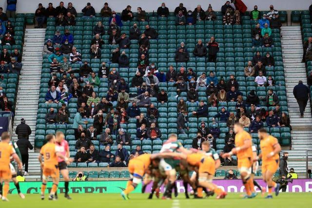 Fans were back at Twickenham for the European Challenge Cup final between Leicester Tigers and Montpellier