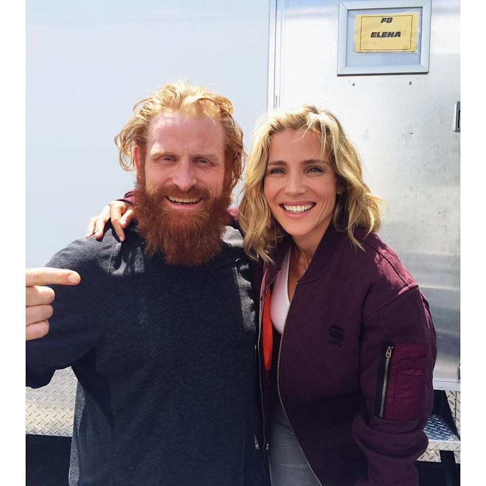"<p>Pataky, who is back as DDS agent and former Dom flame Elena, posted this photo with the <i>Games of Thrones</i> actor, who has a co-starring role in <i>Fast 8</i>. She wrote, ""My trailer neighbour in #F8, for all the people who follow my favourite TV show @gameofthrones, so happy to work with @khivju."" <i><a rel=""nofollow"" href=""https://www.instagram.com/p/BFhVI79ppXt/"">(Photo: elsapatakyconfidential/Instagram)</a></i></p>"