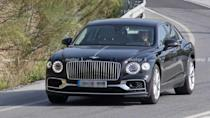 """<p>The <a href=""""https://www.motor1.com/bentley/flying-spur/"""" rel=""""nofollow noopener"""" target=""""_blank"""" data-ylk=""""slk:Bentley Flying Spur"""" class=""""link rapid-noclick-resp"""">Bentley Flying Spur</a> is now the brand's range-topping sedan due to the retirement of the <a href=""""https://www.motor1.com/bentley/mulsanne/"""" rel=""""nofollow noopener"""" target=""""_blank"""" data-ylk=""""slk:Mulsanne"""" class=""""link rapid-noclick-resp"""">Mulsanne</a>. These spy shots appear to show the company testing the high-performance Speed variant.</p> <h3><a href=""""https://www.motor1.com/news/433265/bentley-flying-spur-speed-spy-photos/"""" rel=""""nofollow noopener"""" target=""""_blank"""" data-ylk=""""slk:Possible Bentley Flying Spur Speed Caught Testing As Plug-In Hybrid"""" class=""""link rapid-noclick-resp"""">Possible Bentley Flying Spur Speed Caught Testing As Plug-In Hybrid</a></h3> <br><a href=""""https://www.motor1.com/news/432799/bentley-flying-spur-rear-seats/"""" rel=""""nofollow noopener"""" target=""""_blank"""" data-ylk=""""slk:Bentley Makes Flying Spur Even More Luxurious With Four-Seat Option"""" class=""""link rapid-noclick-resp"""">Bentley Makes Flying Spur Even More Luxurious With Four-Seat Option</a><br><a href=""""https://www.motor1.com/news/430700/last-bentley-mulsanne-assembled/"""" rel=""""nofollow noopener"""" target=""""_blank"""" data-ylk=""""slk:Final Bentley Mulsanne Assembled, Flying Spur Becomes Flagship"""" class=""""link rapid-noclick-resp"""">Final Bentley Mulsanne Assembled, Flying Spur Becomes Flagship</a><br>"""