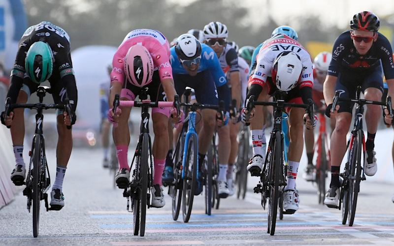 Diego Ulissi sprints to Giro d'Italia stage victory as Joao Almeida tightens grip on the pink jersey - AP