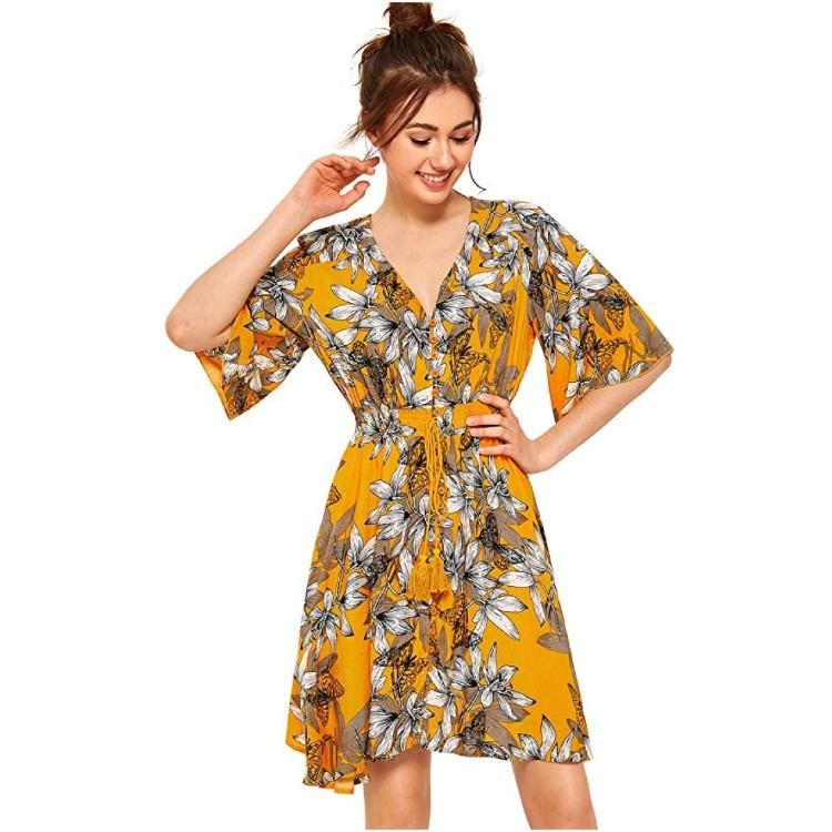 Hanging just above the knee, this dress is cute and modest enough for a work environment. (Photo: Amazon)