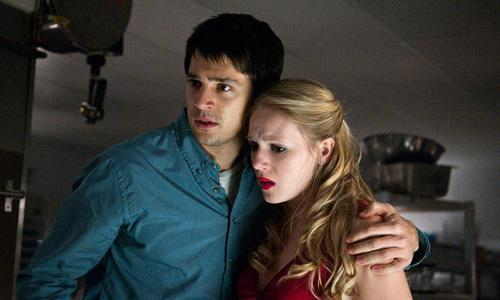 <p>Nicholas D'Agosto as Sam Lawton and Emma Bell as Molly Harper in 'Final Destination 5'.</p>