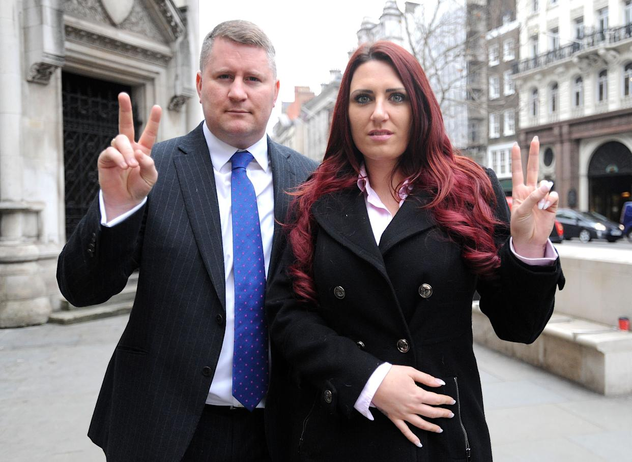 Paul Golding is afounder of Britain First,while Fransen is itsdeputy leader. (Photo: Nick Ansell - PA Images via Getty Images)