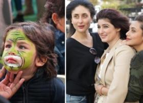 Inside Pics: Taimur paints his face like a tiger at Karan Johar's twins' birthday bash