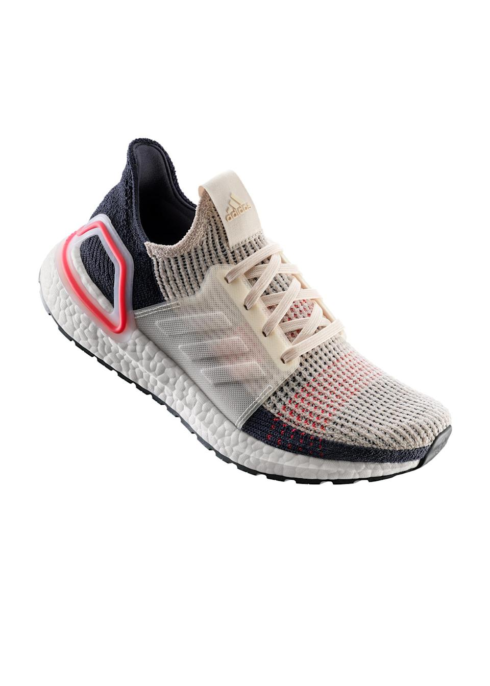 """<p>Name a greater excuse to hit the gym. Adidas has just launched the Ultraboost 19 and we're putting bets on them garnering cult blogger status in the coming weeks so make sure to hurry… <a href=""""https://www.adidas.co.uk/ultraboost-19-shoes/F35284.html"""" rel=""""nofollow noopener"""" target=""""_blank"""" data-ylk=""""slk:Shop now"""" class=""""link rapid-noclick-resp""""><em>Shop now</em></a>. </p>"""