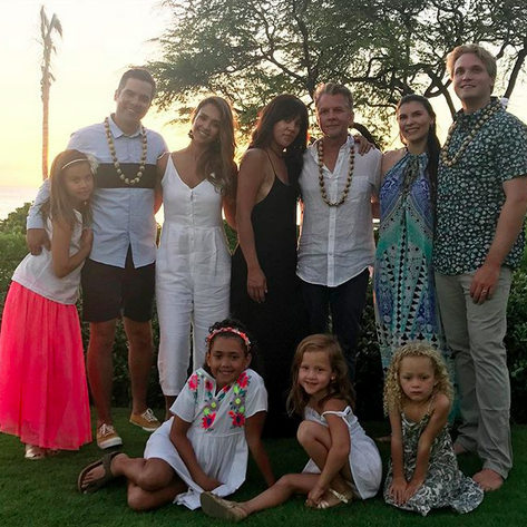 "<p>""We had an epic family vacay,"" posted the mom-to-be, who debuted her baby bump on this Hawaiian getaway. ""Thank you to everyone at the Four Seasons for treating us like family."" (Photo: <a href=""https://www.instagram.com/p/BW8UATIhFuq/?taken-by=jessicaalba"" rel=""nofollow noopener"" target=""_blank"" data-ylk=""slk:Jessica Alba via Instagram"" class=""link rapid-noclick-resp"">Jessica Alba via Instagram</a>) </p>"