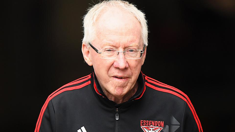 Bruce Reid, pictured here during an Essendon game in 2016.