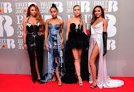 <p>Jean Paul Gaultier's infamous cone bra made an appearance on Little Mix. <i>[Photo: PA]</i> </p>