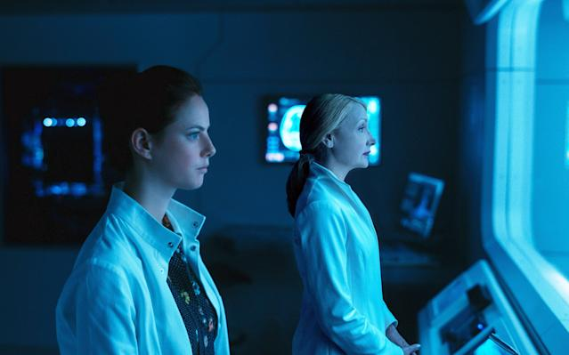 Kaya Scodelario as Teresa and Patricia Clarkson as Ava Paige in <em>Maze Runner: The Death Cure</em> (Photo: 20th Century Fox/Courtesy of Everett Collection)