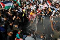 Protest to express solidarity with the Palestinian people in Baghdad
