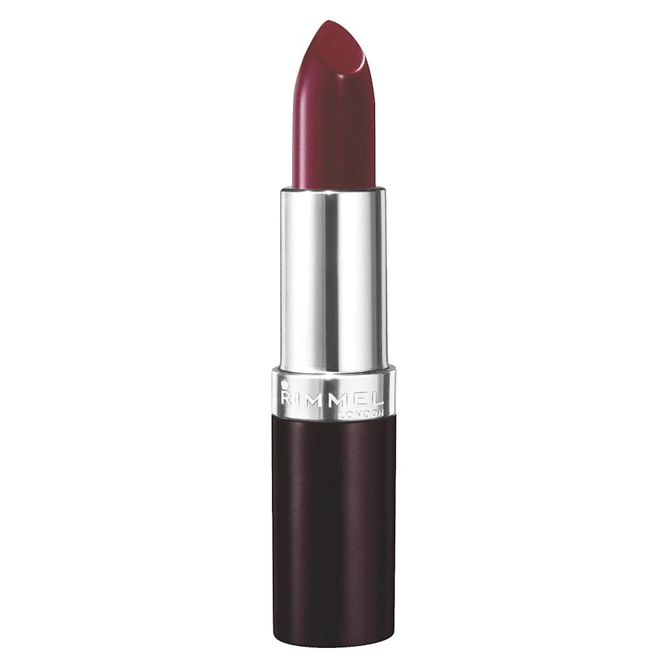 <p>This long-lasting <span>Rimmel Lasting Finish Lipstick</span> ($4) is infused with black diamond, which brings a reflective shine to your lips.</p>