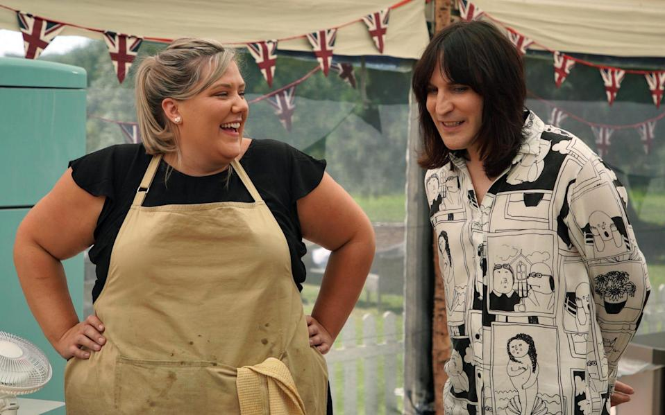 Laura Adlington and Noel Fielding on The Great British Bake Off - Channel 4