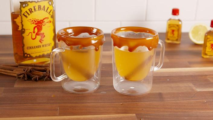 """<p>This can cure your cold and your winter blues.</p><p>Get the recipe from <a href=""""https://delish.com/cooking/recipe-ideas/recipes/a51422/fireball-hot-toddies-recipe/"""" rel=""""nofollow noopener"""" target=""""_blank"""" data-ylk=""""slk:Delish"""" class=""""link rapid-noclick-resp"""">Delish</a>. </p>"""